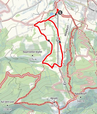 Karte / Enzianstüble und Sommerrodelbahn, Nesselwang