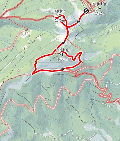 Karte / Alpspitze und Edelsberg
