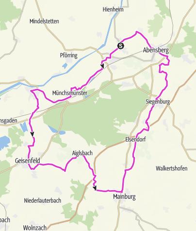 Map / [r]auszeit Rennrad-Erlebnis III: Rund um den Dürnburger Forst im Donau-, Ilm- und Abenstal durch die Hallertau