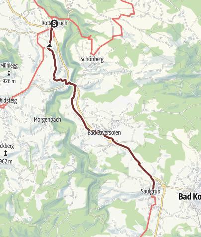 Karte / VIA ROMEA Rottenbuch - Saulgrub (50)