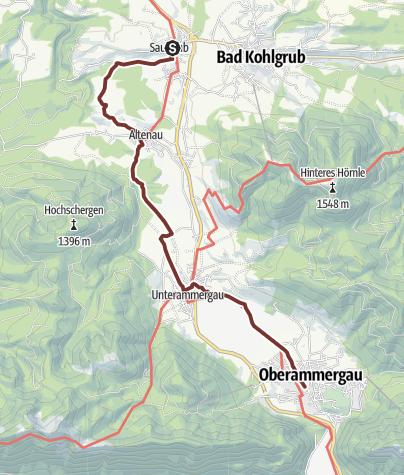 Karte / VIA ROMEA Saulgrub - Oberammergau (51)