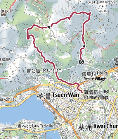 Map / 全走大圓石澗