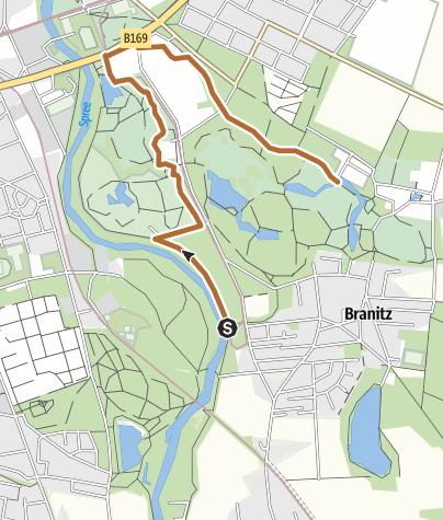 Karte / Nordic Walking Tour durch den Branitzer Park