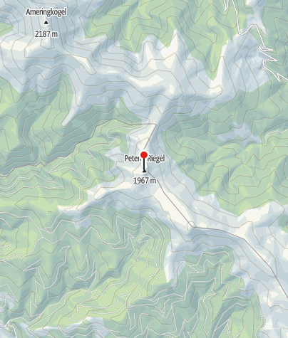 Karte / Gipfelkreuz Peterer-Riegel