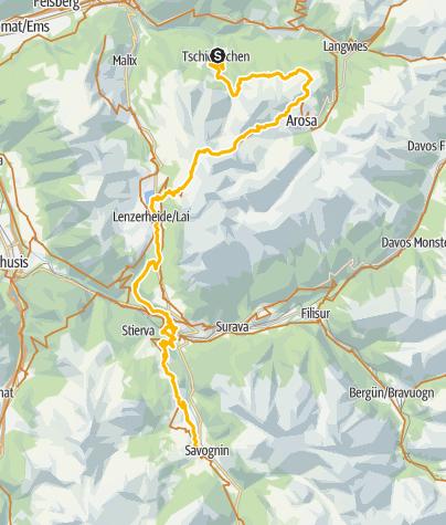 Map / Etappe 1: Südflucht Graubünden