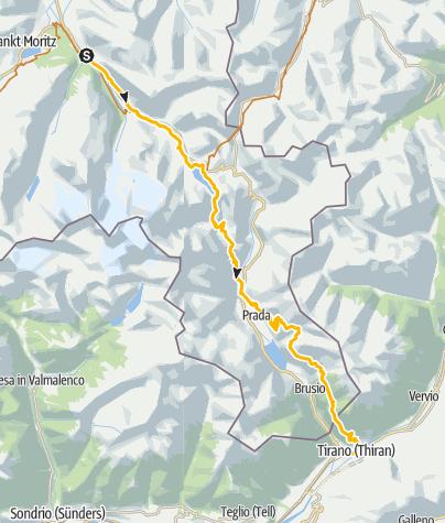 Map / Etappe 3: Südflucht Graubünden
