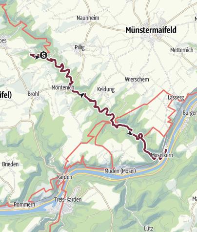 Karte / Osteifelweg (1) - 8. Etappe