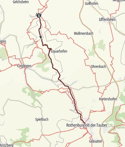 Karte / VIA ROMEA Aub - Rothenburg o.d.T. (38)