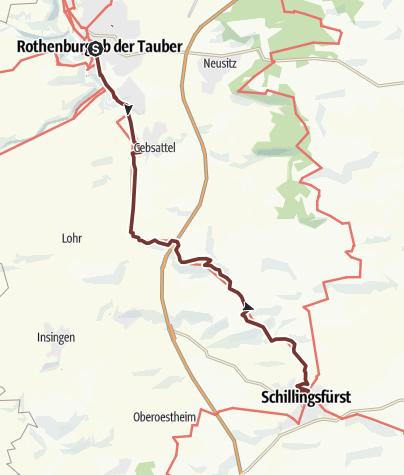 Karte / VIA ROMEA Rothenburg o.d.T. - Schillingsfürst (39)