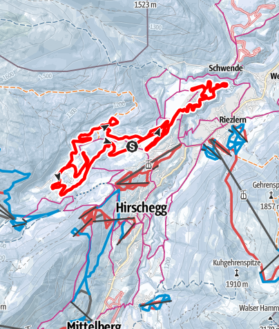 Karte / Küren-Wäldele-Egg-Loipe Gesamtstrecke