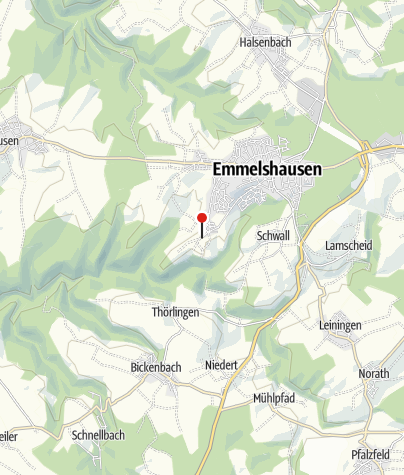 Karte / Wandern - 4 Traumschleifen im Baybachtal