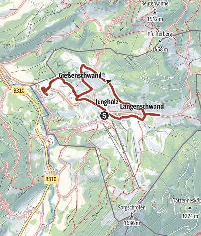 Karte / Buchstabenweg Jungholz