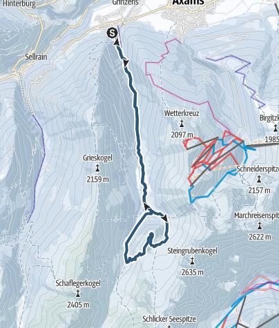 Karte / Sonntagsköpfl 2096m