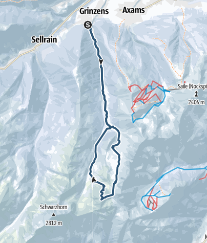 Karte / Gamskogel 2659m