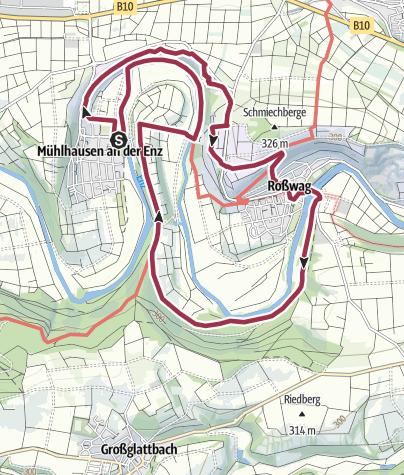 Karte / Vaihingen und Enzschleife Mühlhausen