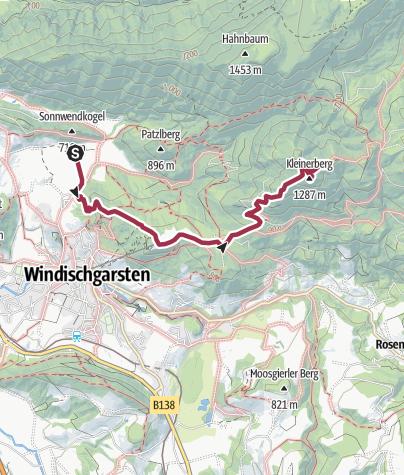 Map / Kleinerberg ab Villa Sonnwend, Windischgarsten