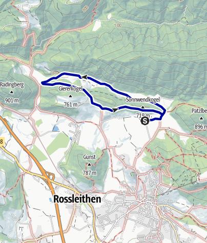 Karte / Wanderweg Veichltal, Windischgarsten