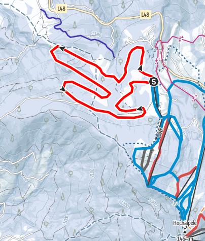 Karte / Schwarzenberg | Langlaufloipe Bödele (große Runde)