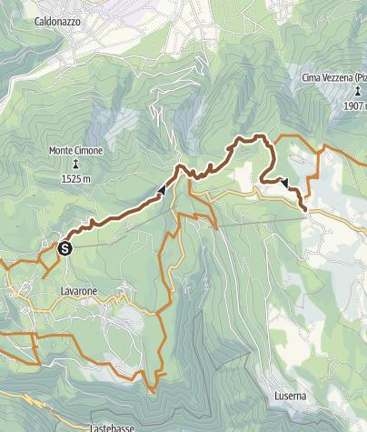 Cartina / Fat Bike Lavarone - Da Bertoldi a passo Vézzena