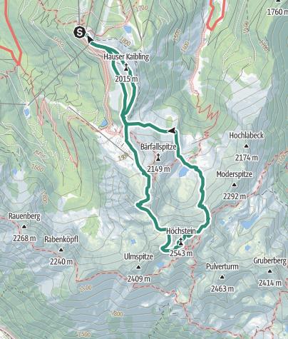 Map / Hauser Kaibling (2.015 m) - Höchstein (2.543 m) - Moaralmsee