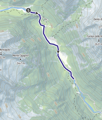 Cartina / Zona Alta Val Genova