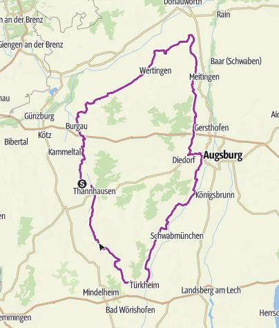 Karte / Sieben-Schwaben-Tour