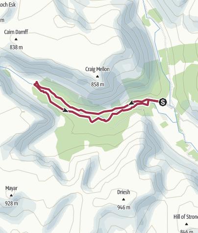 Map / Glen Doll Forest Trail