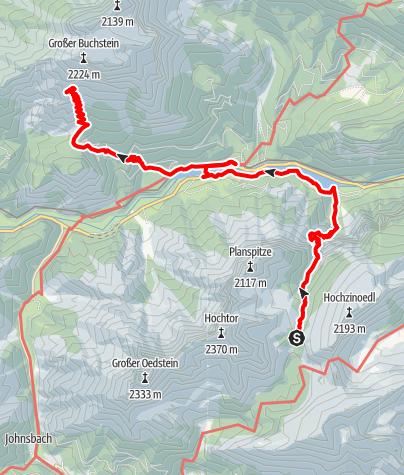Karte / Gesäuse-Runde - Etappe 3: Heßhütte - Buchsteinhaus