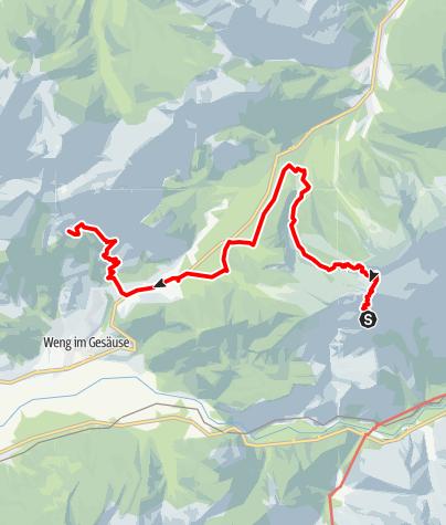 Karte / Gesäuse-Runde - Etappe 4: Buchsteinhaus - Grabneralm