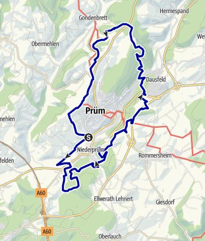 Karte / Panoramaweg 120 - Rund um Prüm
