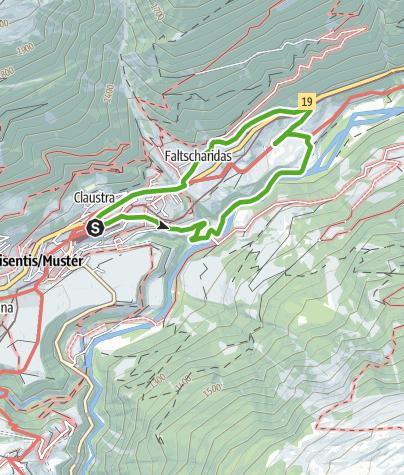 Karte / Rundwanderung Disla