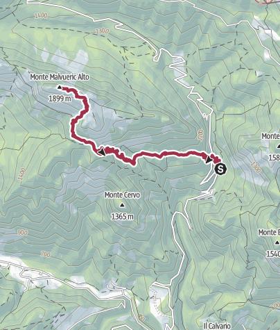 Map / Malvuerich alto - Krakovizer weg
