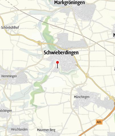 Karte / E-Bike-Station am Bahnhof Schwieberdingen