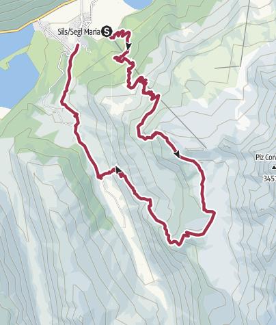 Map / St. Moritz: DT - Piz Chüern