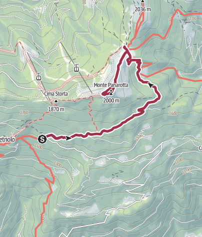 Map / Monte Panarotta da Vetriolo Terme