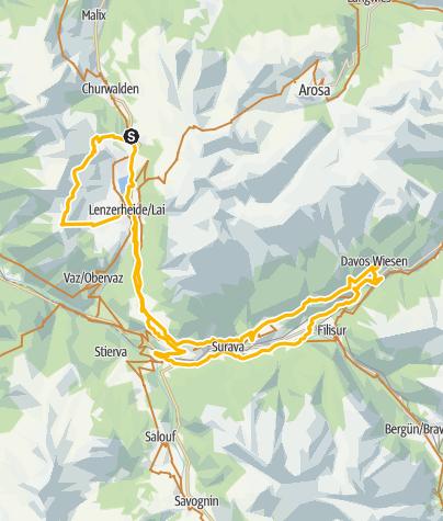 Karte / Etappe 1: Parpan - Parpan, Flowtour Graubünden