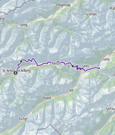Map / GORE-TEX® TRANSALPINE-RUN 2017 3. Etappe