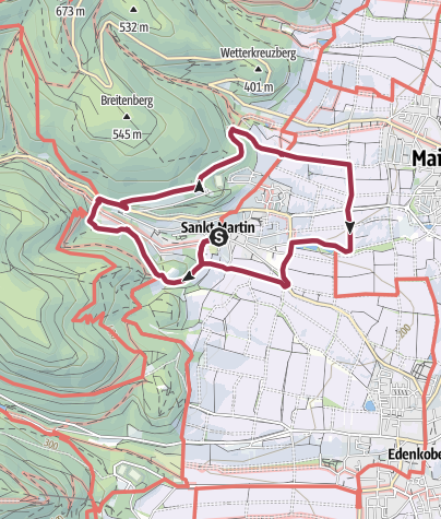 Karte / St. Martin - Rundweg um den Ort