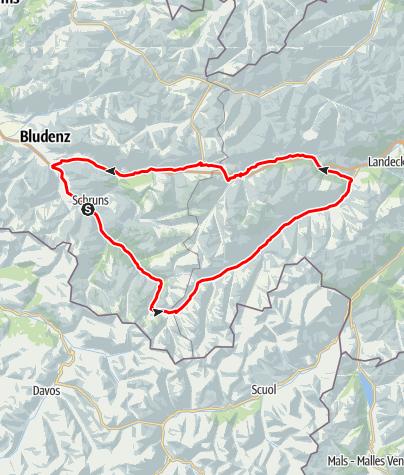 Karte / Silvretta - Arlberg Runde (Arlberg Runde)