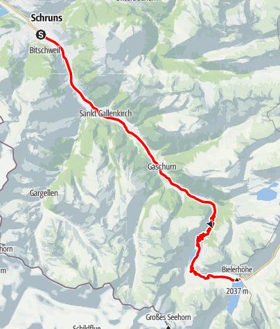 Karte / Silvrettasee Tour