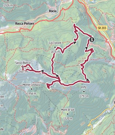 Map / Cima Sasso Bianco