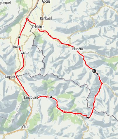 Karte / 3-Länder Tour Schlappiner Joch (Extrem MTB Tour)