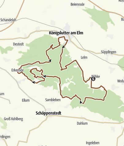 Karte / Verwunschene Trails