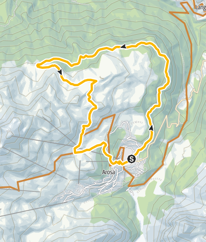 Map / Arosa - Scheidegg - Arosa