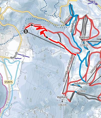 Karte / Bayrischzell Tannersteigerl zum Mittleren Sudelfeld