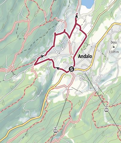 Cartina / Andalo - Maso Ghezzi, Maso Cadin, Maso Pegorar