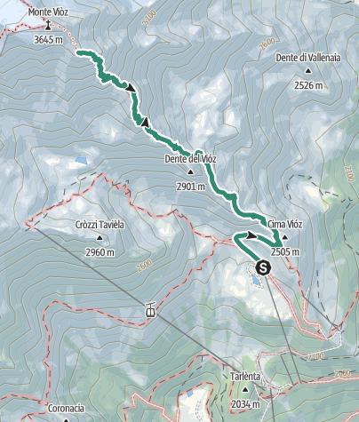 Map / Rifugio Vioz «Mantova» alpine hut
