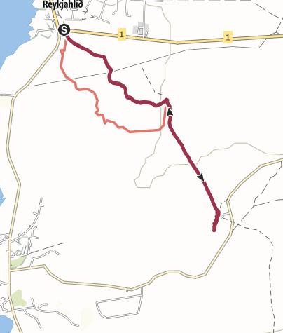 Map / Grjotagja - warmer See in Felsenkluft