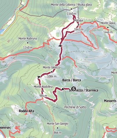Map / Monte Matajur da Stermizza.gpx