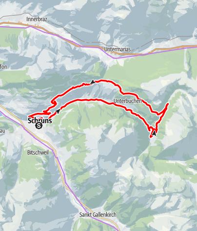 Karte / Montafon E-Bike Genussrunde